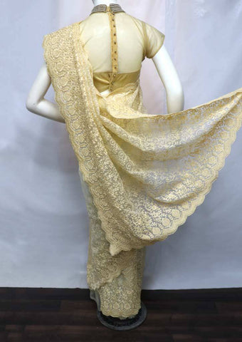Beige Color Designer Saree- FE17943 ARRS Silks