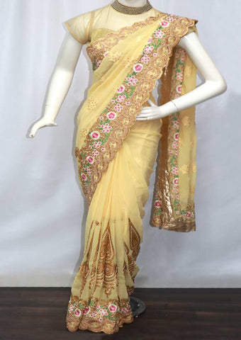 Beige Color Designer Saree -  FR101180 ARRS Silks