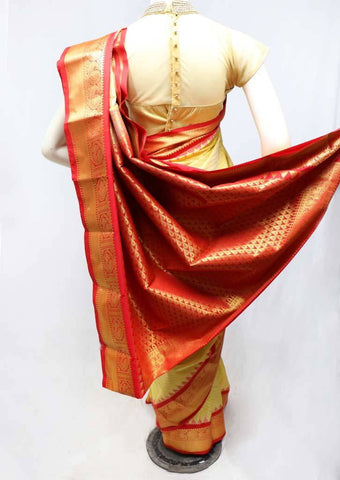 Beige Color Semi Silk Saree- FS43763 ARRS Silks