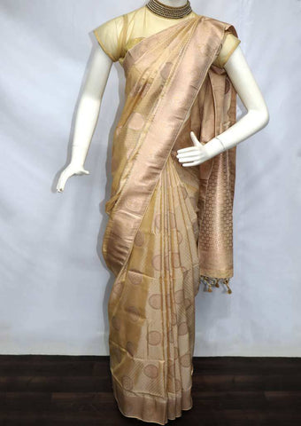 Beige Soft Semi Silk Saree - FU28019 ARRS Silks