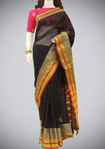Black Aura Cotton Saree ARRS Silks