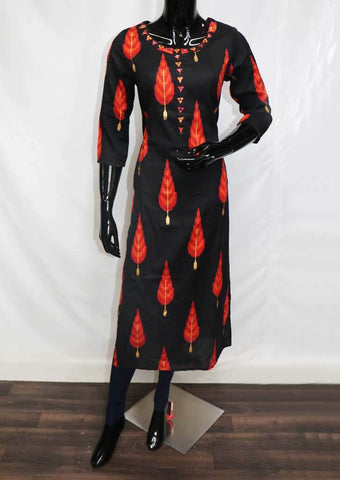 Black Color Kurti - FR97937 ARRS Silks