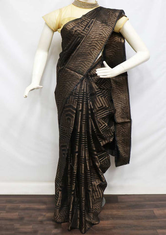 Black Color Manipuri Cotton Sarees- FW7252 ARRS Silks