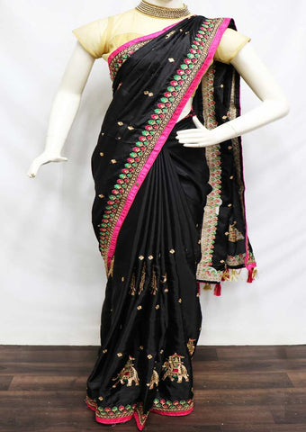 Black Designer Saree - SBJ28199 ARRS Silks
