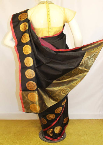 Black Organza Cotton Sarees- F087560 ARRS Silks