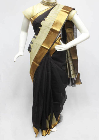 Black Silk Cotton Saree - FP3031 ARRS Silks