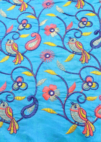 Blue Blouse Fabric FR60325 ARRS Silks