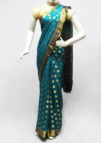 Blue Chiffon Saree-FR70449 ARRS Silks