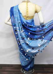 Blue Color Linen  Saree - FV32255 ARRS Silks