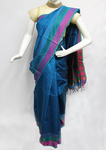 Blue Color Silk Cotton Saree - FQ92581 ARRS Silks