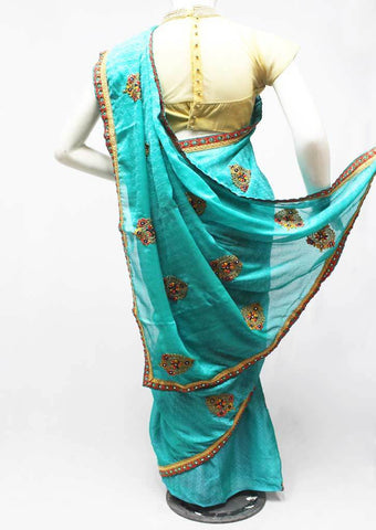 Blue Color Synthetic Saree-FR96693 ARRS Silks