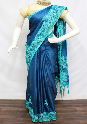 Blue Designer Saree - FR129912 ARRS Silks