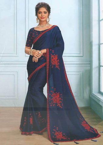 Blue Designer Saree - FS7564 ARRS Silks