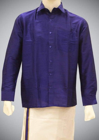Blue Full Hand Silk Cotton ARRS Silks