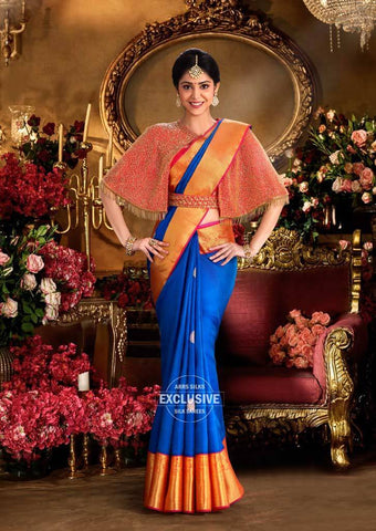 Blue Kanchipuram Silk Saree-9KA3723 ARRS Silks