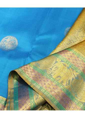 Blue Kanchipuram Silk Saree - ER1061 ARRS Silks