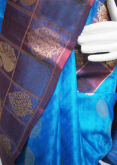 Blue  Kanchipuram Silk Saree- FJ3438 ARRS Silks