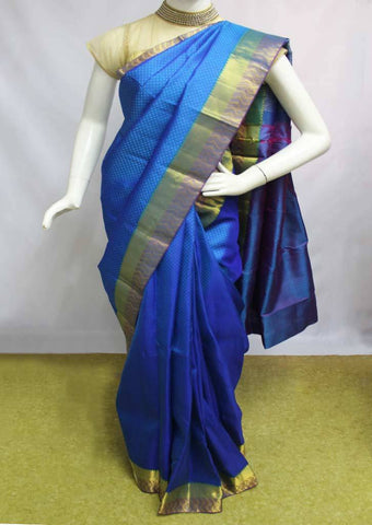 Blue Kanchipuram Silk Saree-FN80462 ARRS Silks