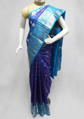 Blue Kanchipuram Silk Saree-FQ31384 ARRS Silks