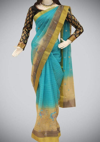 Blue Manipuri Cotton ARRS Silks