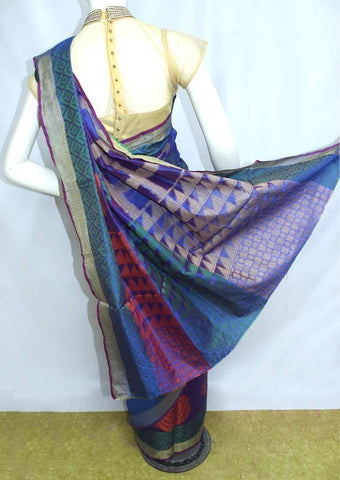 Blue Manipuri Cotton Sarees- FO87513 ARRS Silks