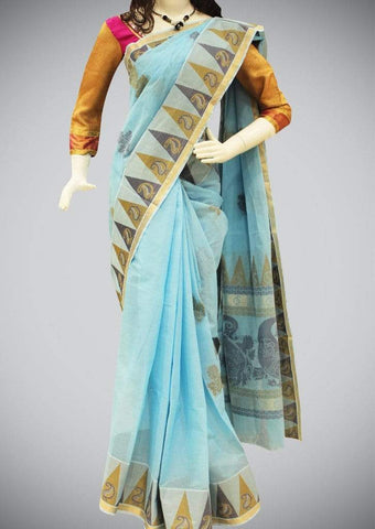 Blue Nagamam Cotton ARRS Silks