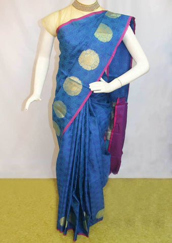 Blue Organza Cotton Sarees- FP10479 ARRS Silks