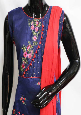 Blue Readymade Salwar- FP35680 ARRS Silks