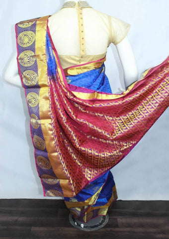 Blue Semi Silk Saree- FN68720 ARRS Silks