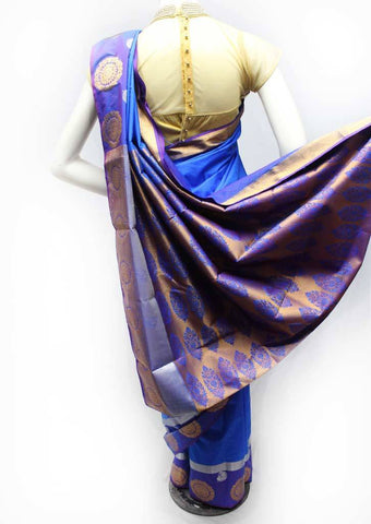 Blue Semi Silk Saree- FR98416 ARRS Silks