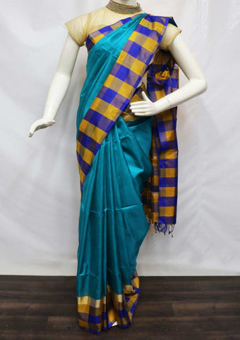 Blue Soft Silk Saree - FU44134 ARRS Silks