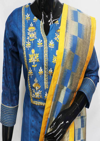 Blue Straight Cut  Readymade Salwar-FR88780 ARRS Silks