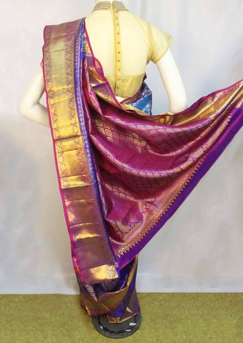 Blue Wedding Silk Saree - FF16502 ARRS Silks