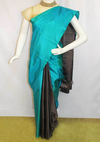 Blue With Gray Soft Silk Saree -FL85904 ARRS Silks