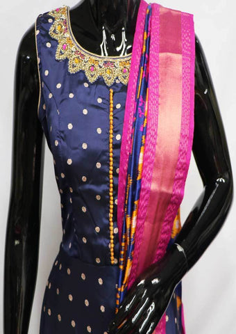 Blue With Pink Readymade Salwar- FL78811 ARRS Silks