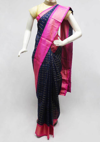 Blue with Pink Silk Cotton Saree - FR29201 ARRS Silks