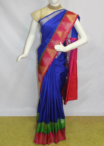 Blue with Pink Soft Silk Saree - FI6755 ARRS Silks