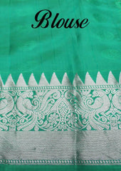Bottle Green Kanchipuram Silk Saree-FQ31428 ARRS Silks