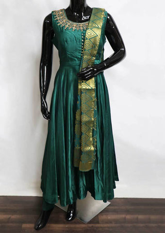 Bottle Green Readymade Salwar- FG3137 ARRS Silks