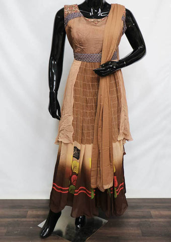 Brown Color Readymade Salwar- FF20214 ARRS Silks