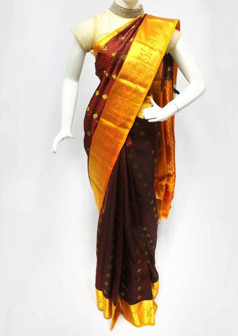 Brown Kanchipuram Silk Saree - FQ41799 ARRS Silks