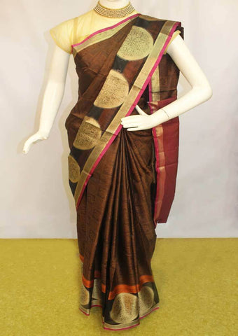 Brown Organza Cotton Sarees- FP10483 ARRS Silks