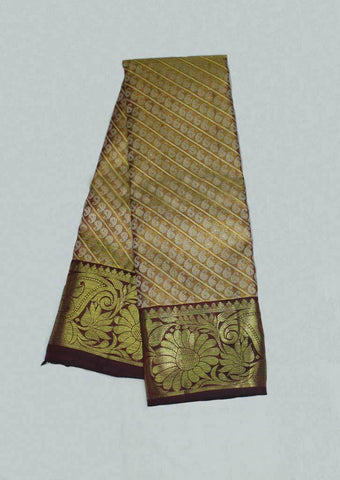 Brown Wedding Silk Saree - 9KA1841 ARRS Silks