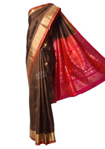 Brown With Pink Soft Silk Saree -FQ39025 ARRS Silks