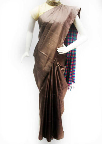 Chocolate Brown with Multi Color Soft Silk Saree - FQ111191 ARRS Silks