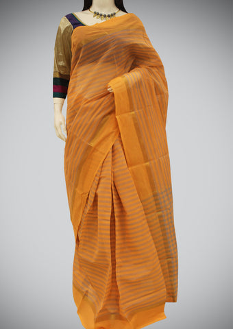 Orange Chettinad Cotton Saree