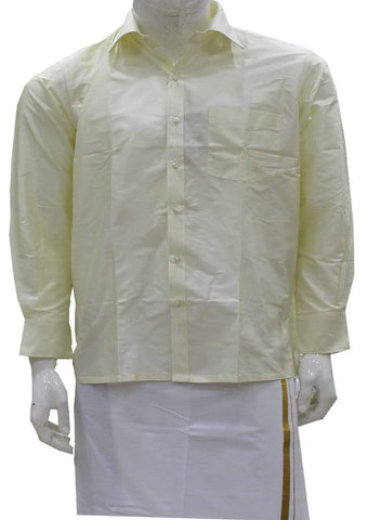 Cream Pure Silk Shirt ARRS Silks