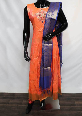 Crossandra with Pepsi Blue  Readymade Salwar-FU47109 ARRS Silks