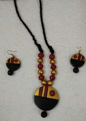 Customized Terracotta  Jewellery Gold and Red ARRS Silks