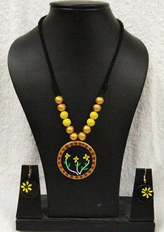 Customized Terracotta  Jewellery Gold ARRS Silks